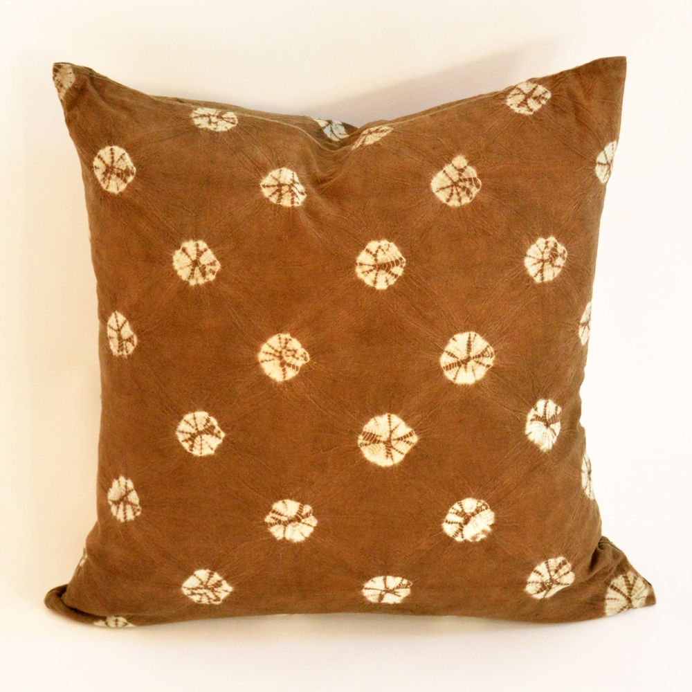 batik circles pillow