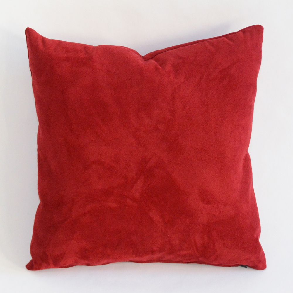 crimson pillow
