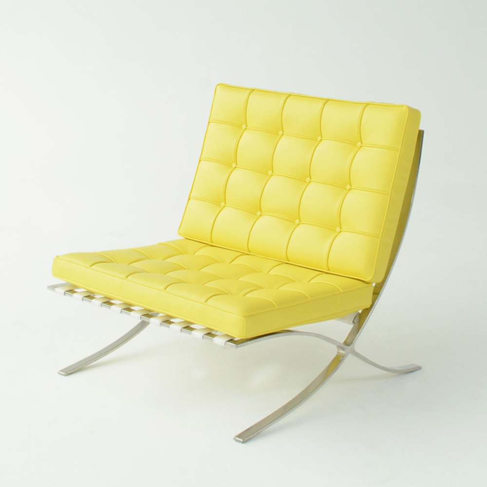 barcelona chair yellow