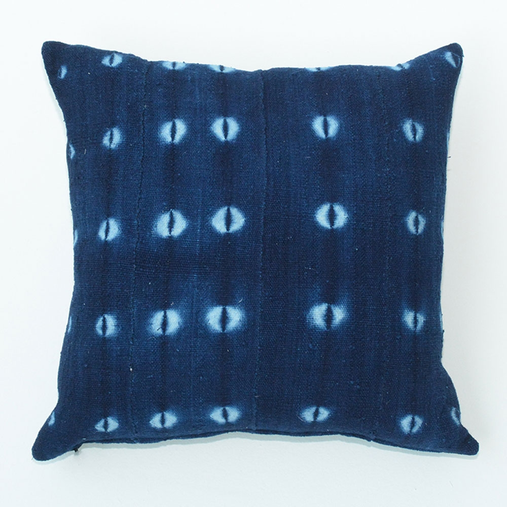 shibori indigo pillow