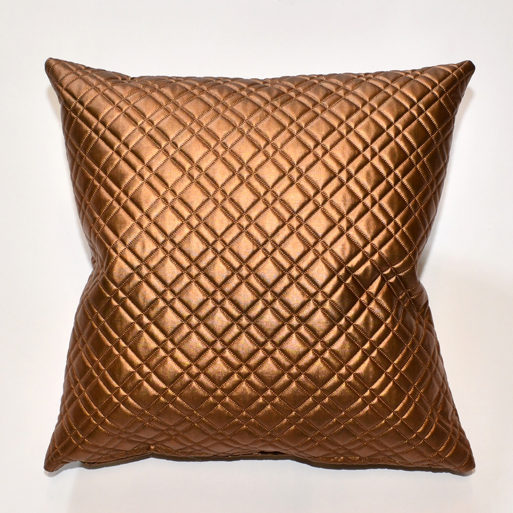 evo plaid copper pillow